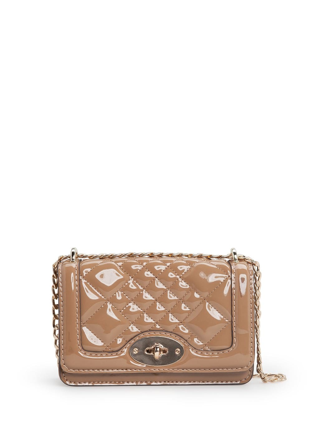 Quilted patent cross body bag | MANGO