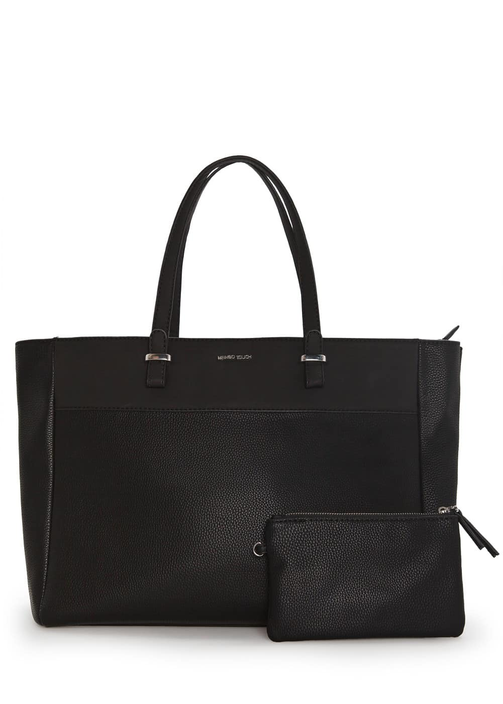 Pebbled shopper bag | MANGO