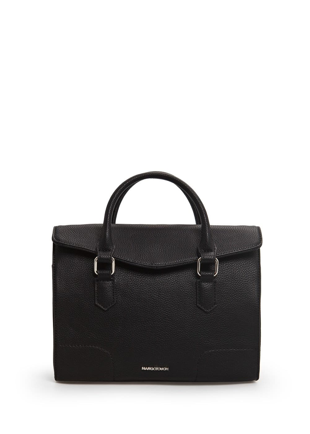 Flap pebbled tote bag | MANGO MAN
