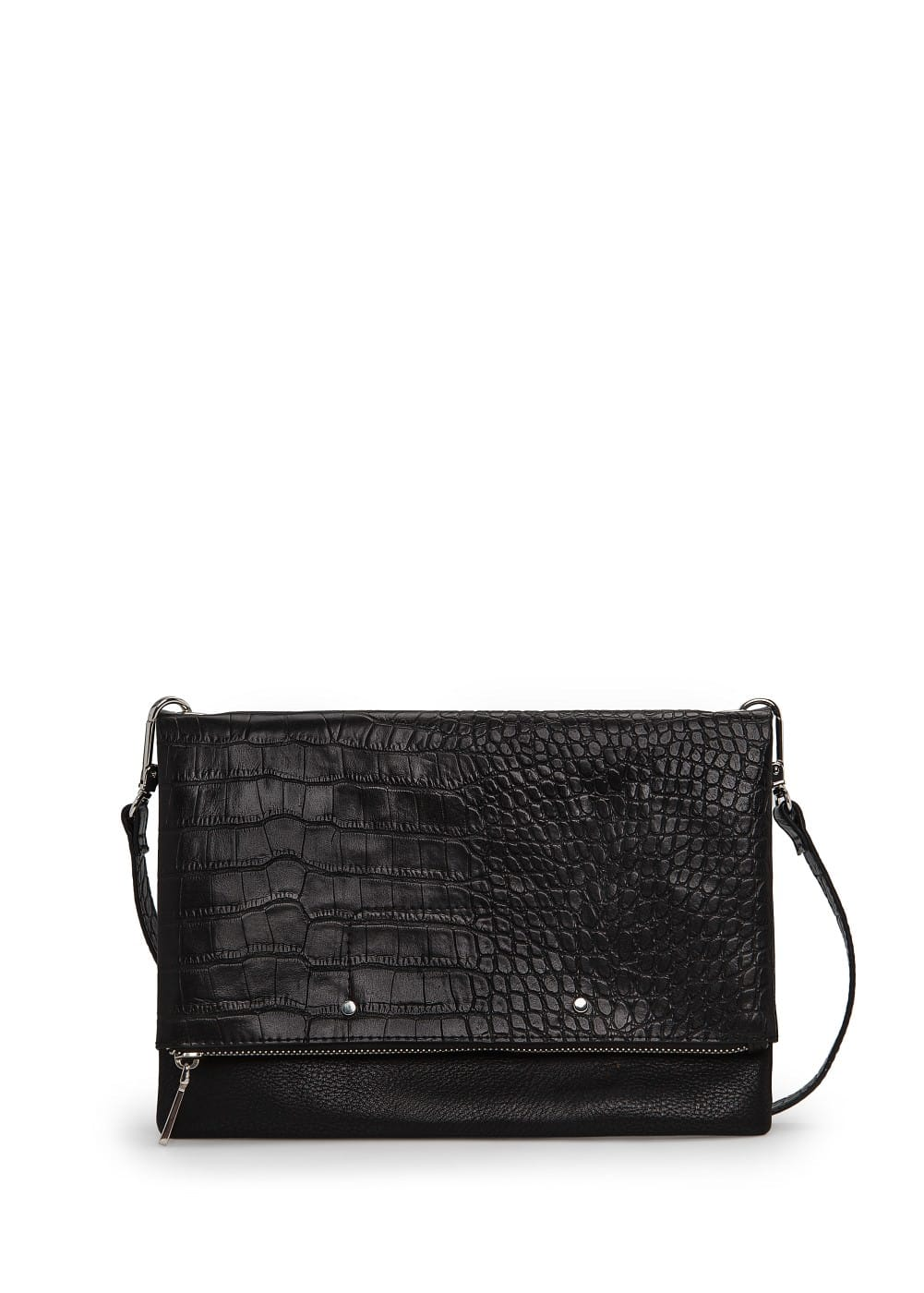 Croc-effect folded bag | MANGO