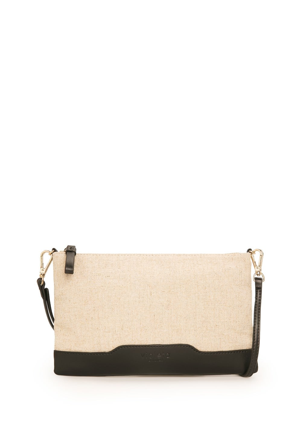 Canvas clutch | MANGO