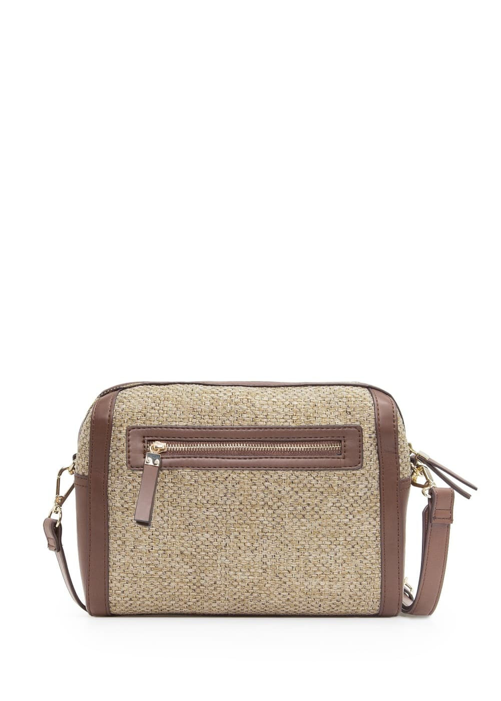 Jute cross body bag | MANGO