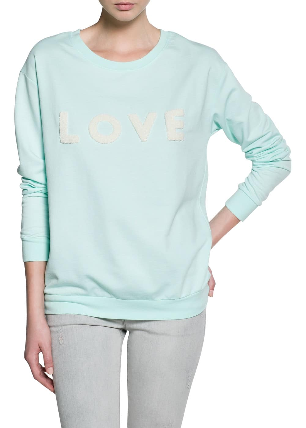 Message sweatshirt | MANGO