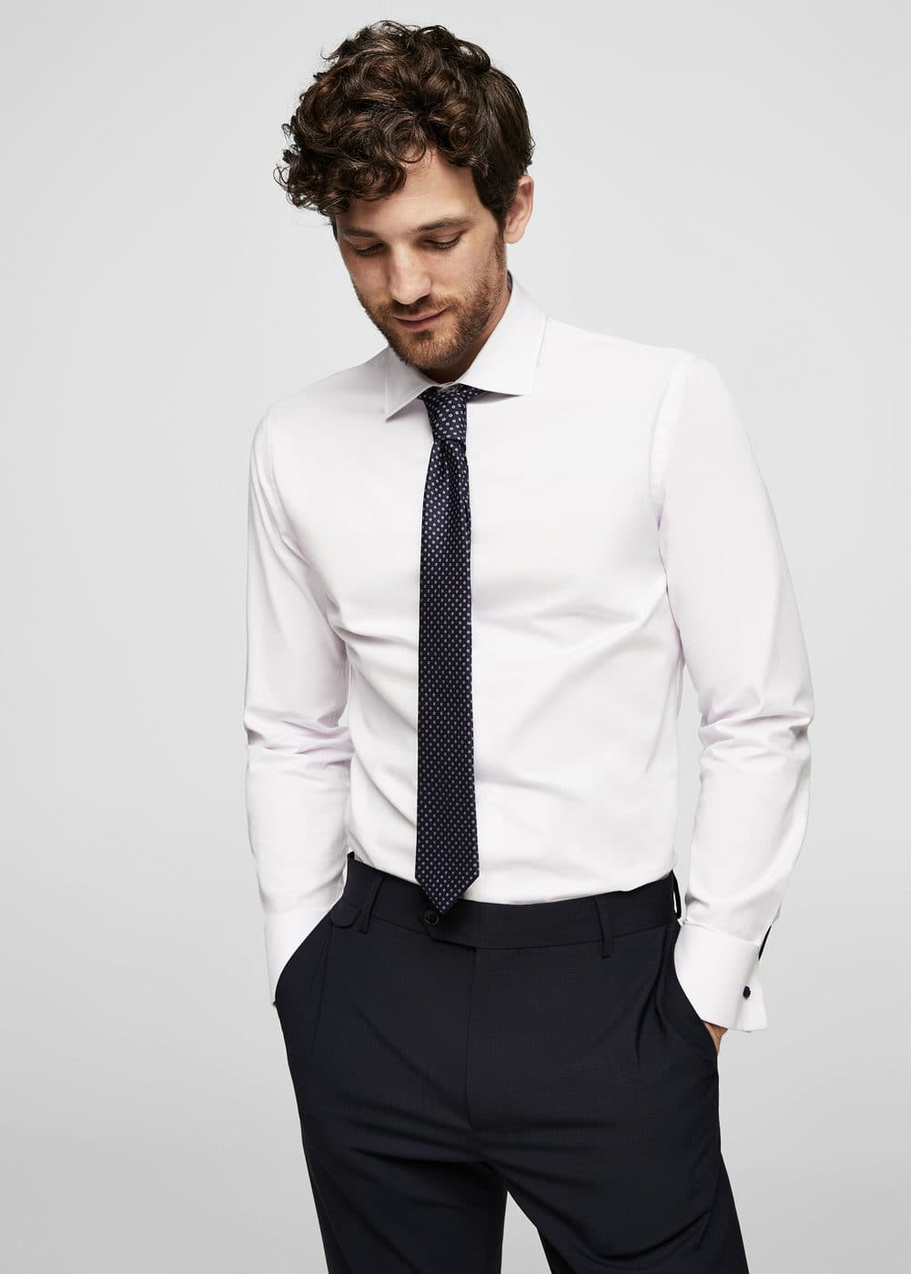 Camisa tailored slim-fit algodón | MANGO MAN