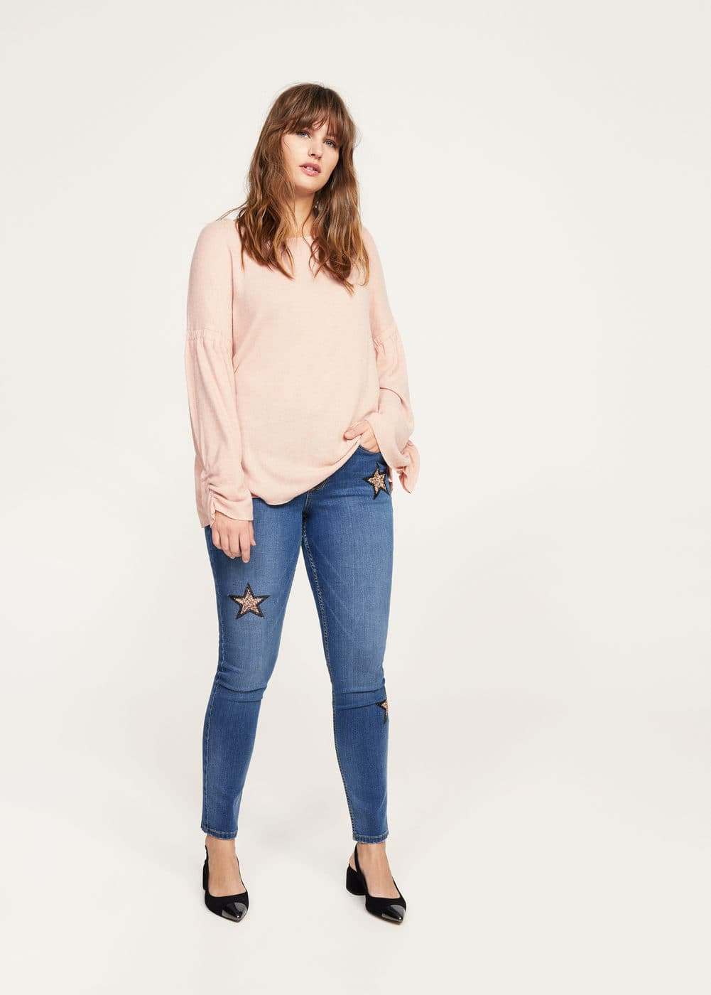 Appliqués super slim jeans | VIOLETA BY MANGO