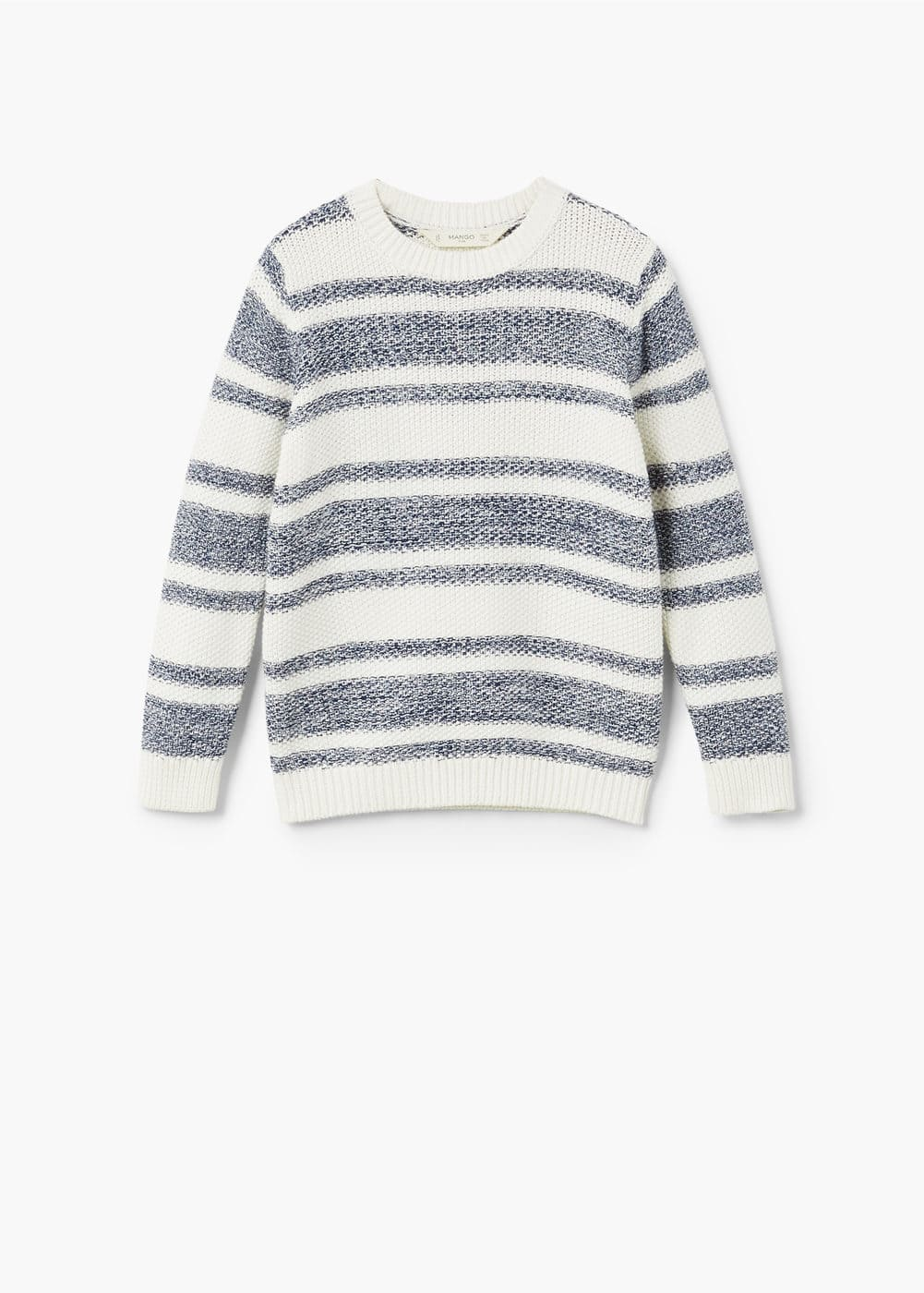 Bicolor cotton sweater | MANGO