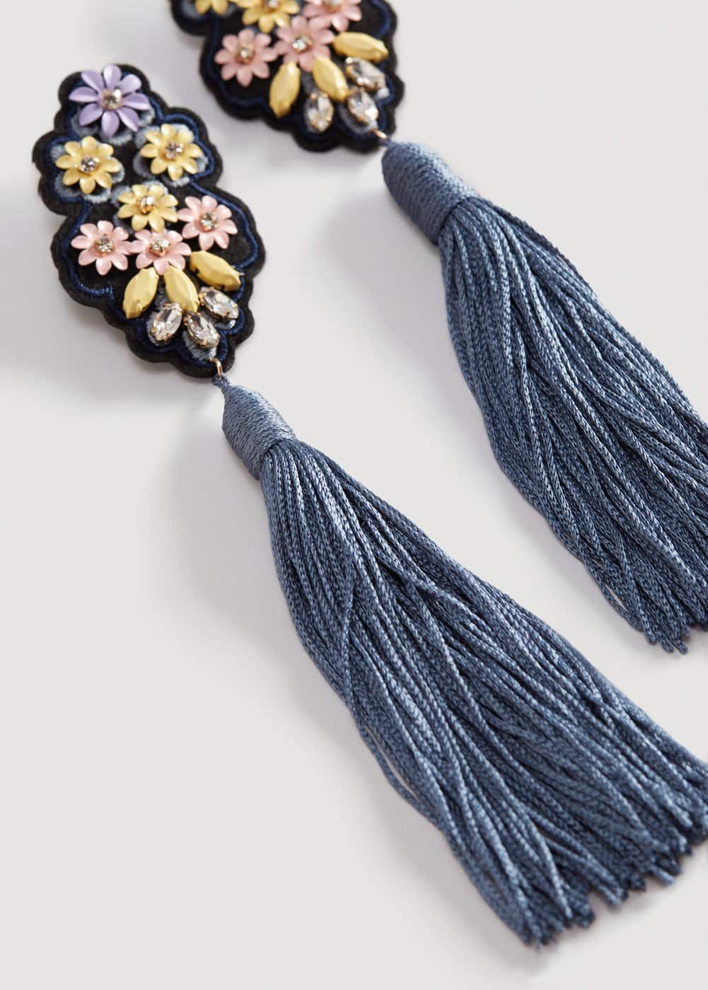 Fringe beads earrings | MANGO