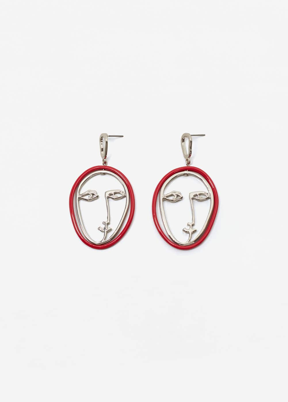 Face earrings | MANGO