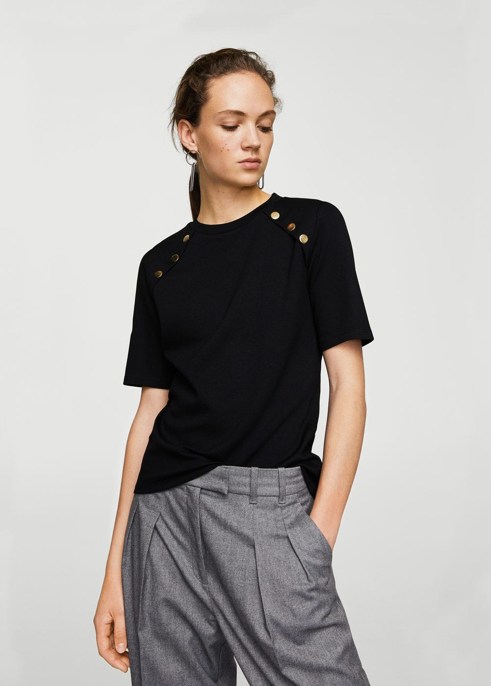 Side snap t-shirt | MANGO