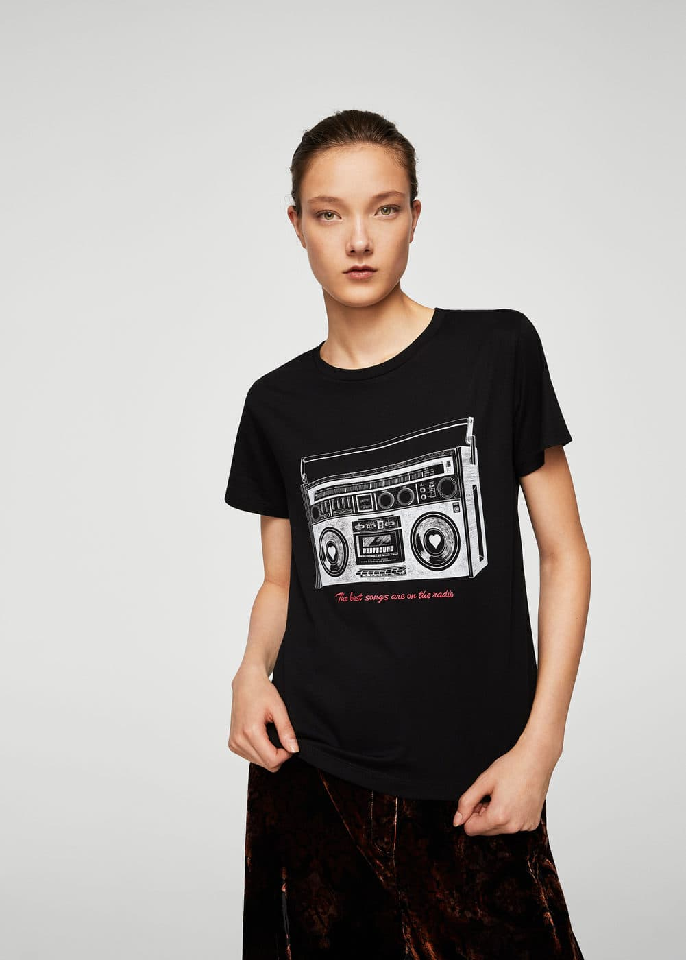 Retro printed t-shirt | MANGO