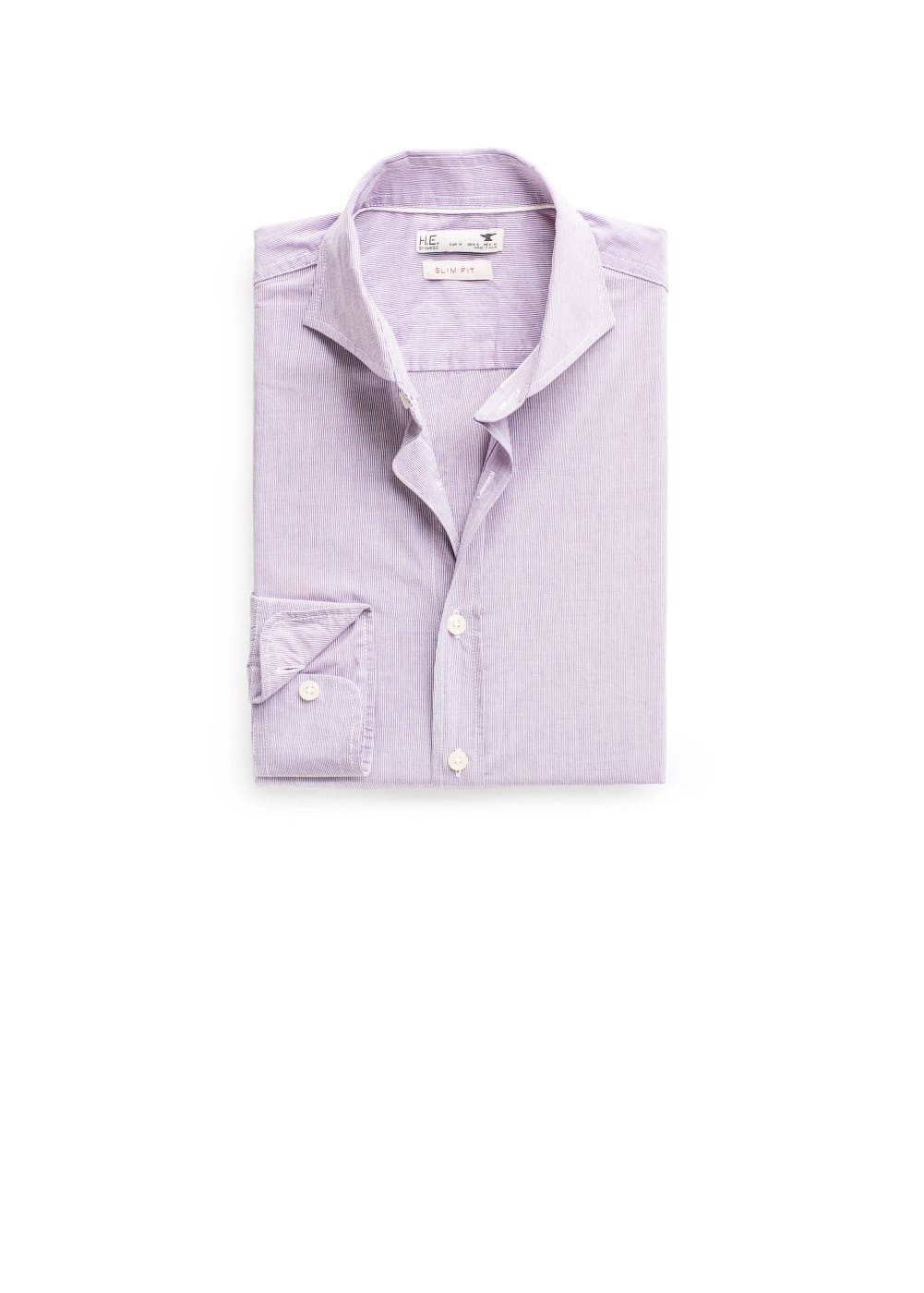 Slim-fit fine-stripe shirt | MANGO