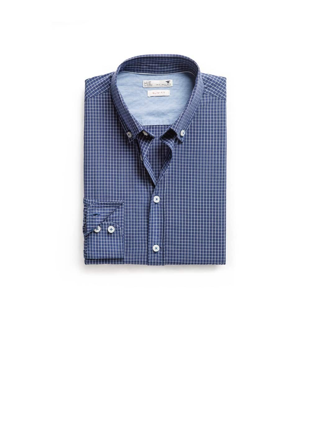 Chemise slim-fit carreaux | MANGO MAN