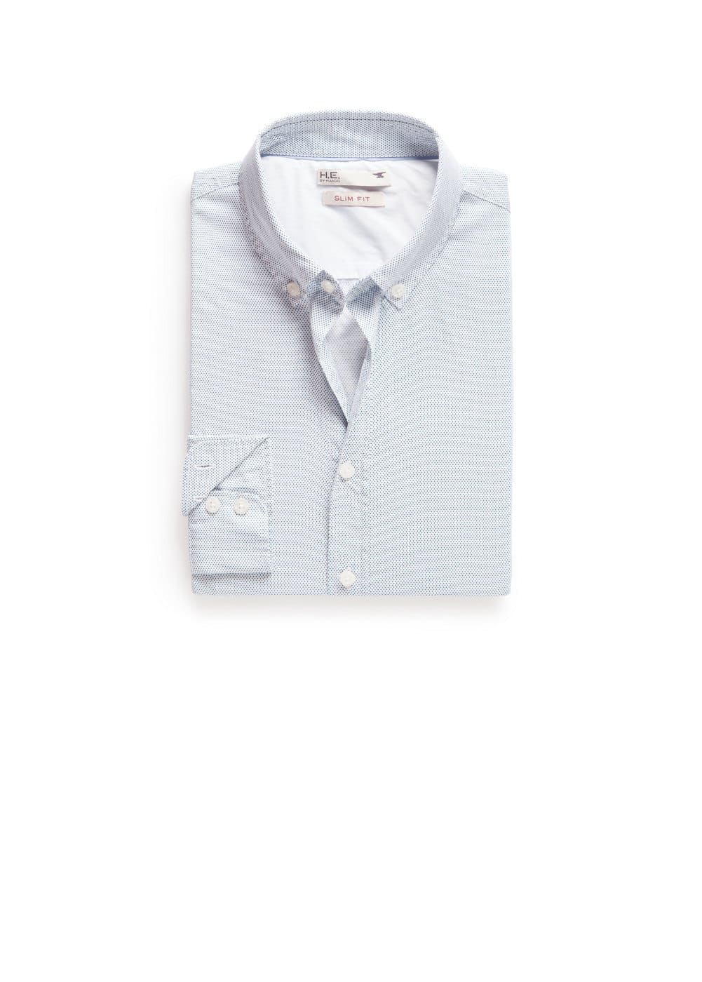 Camisa slim-fit topos | MANGO MAN