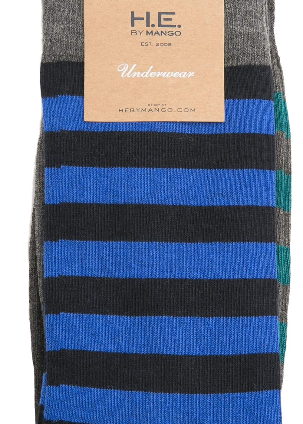 2 pack striped socks | MANGO