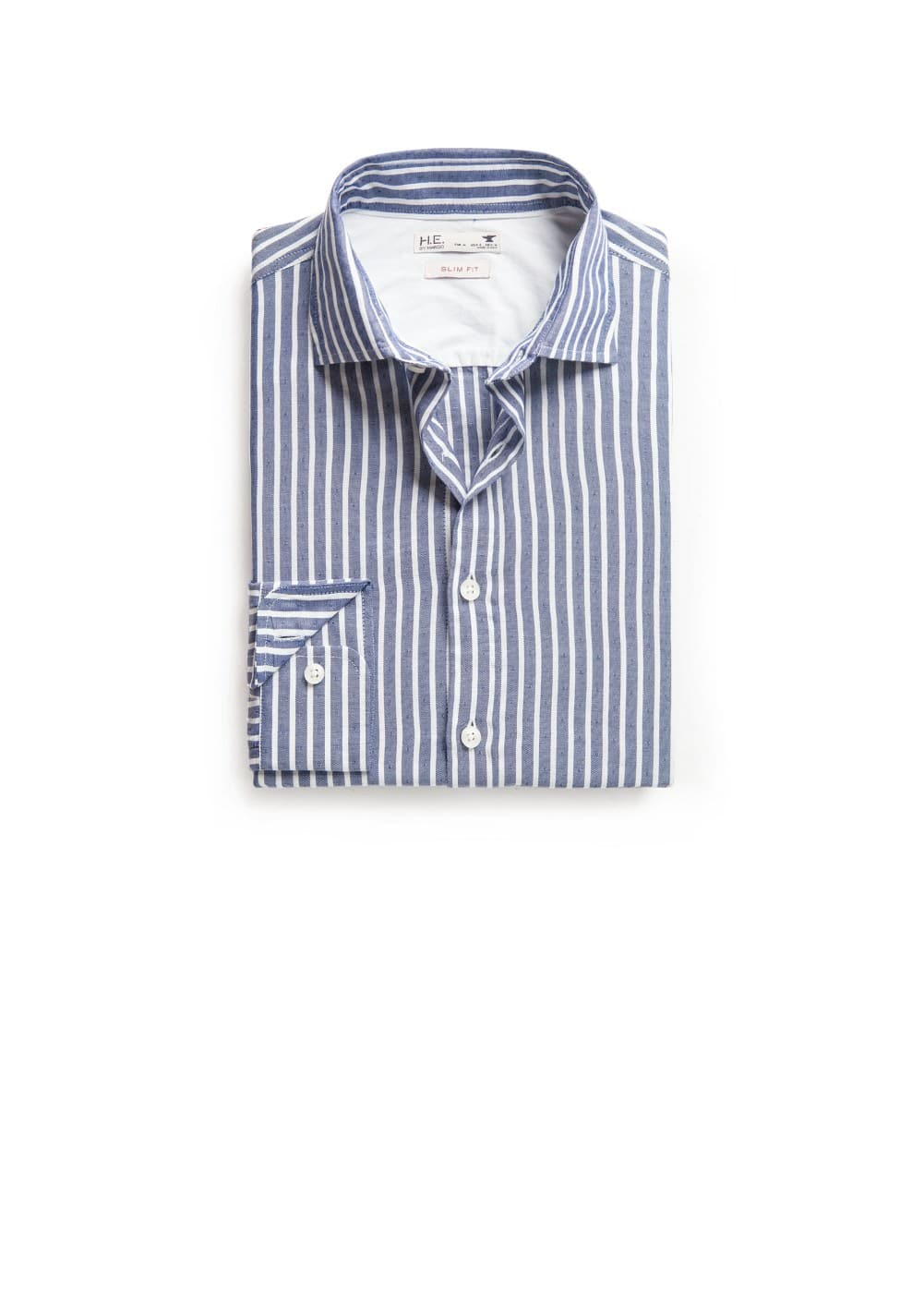 Slim-fit striped oxford shirt | MANGO