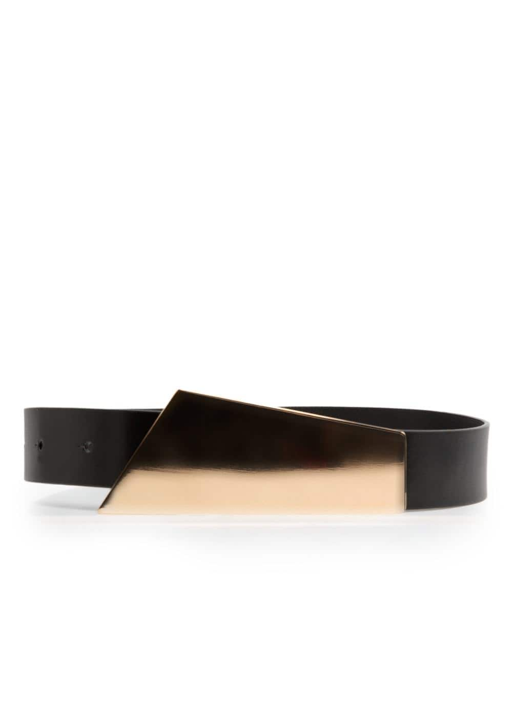 Metal plate belt | MANGO