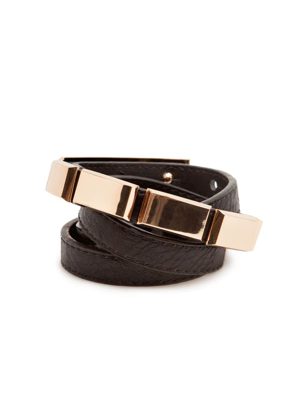 Metal piece belt | MANGO