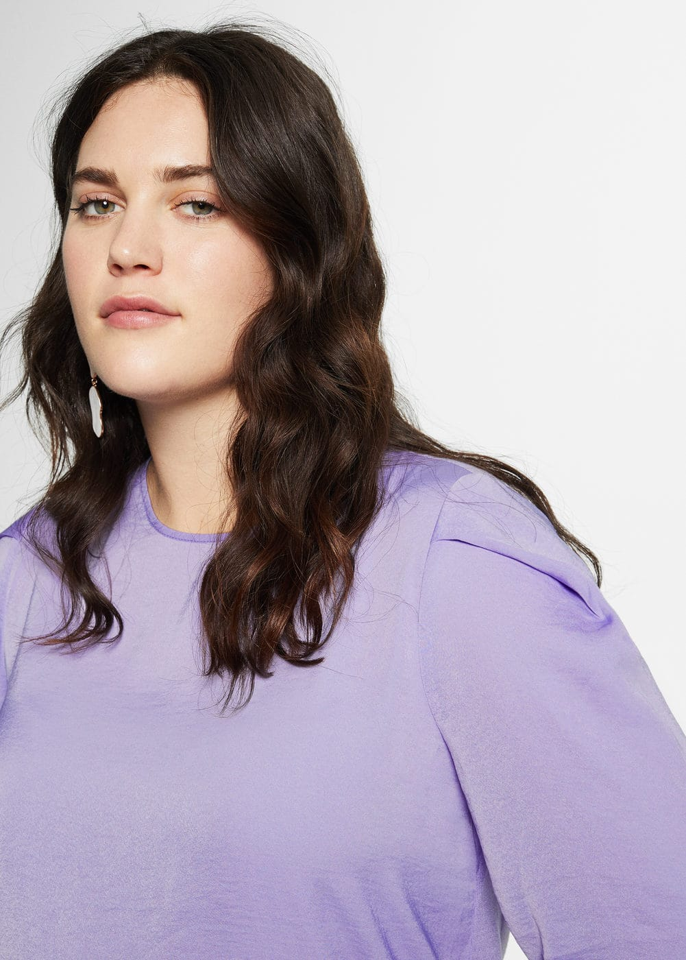 Pleated sleeves t-shirt | VIOLETA BY MANGO