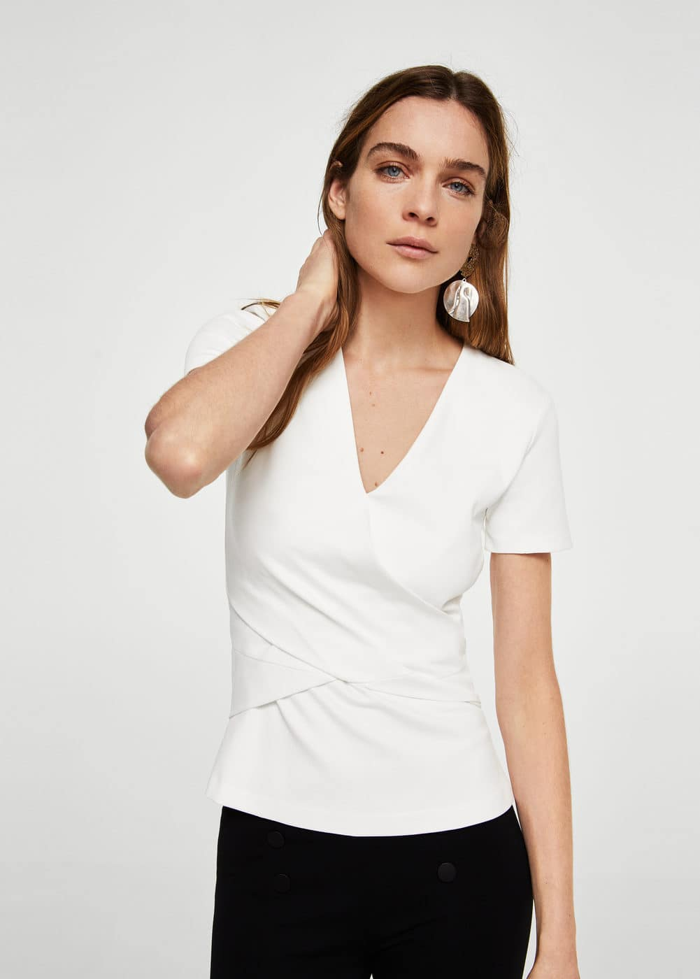 Wrapped panel t-shirt | MANGO