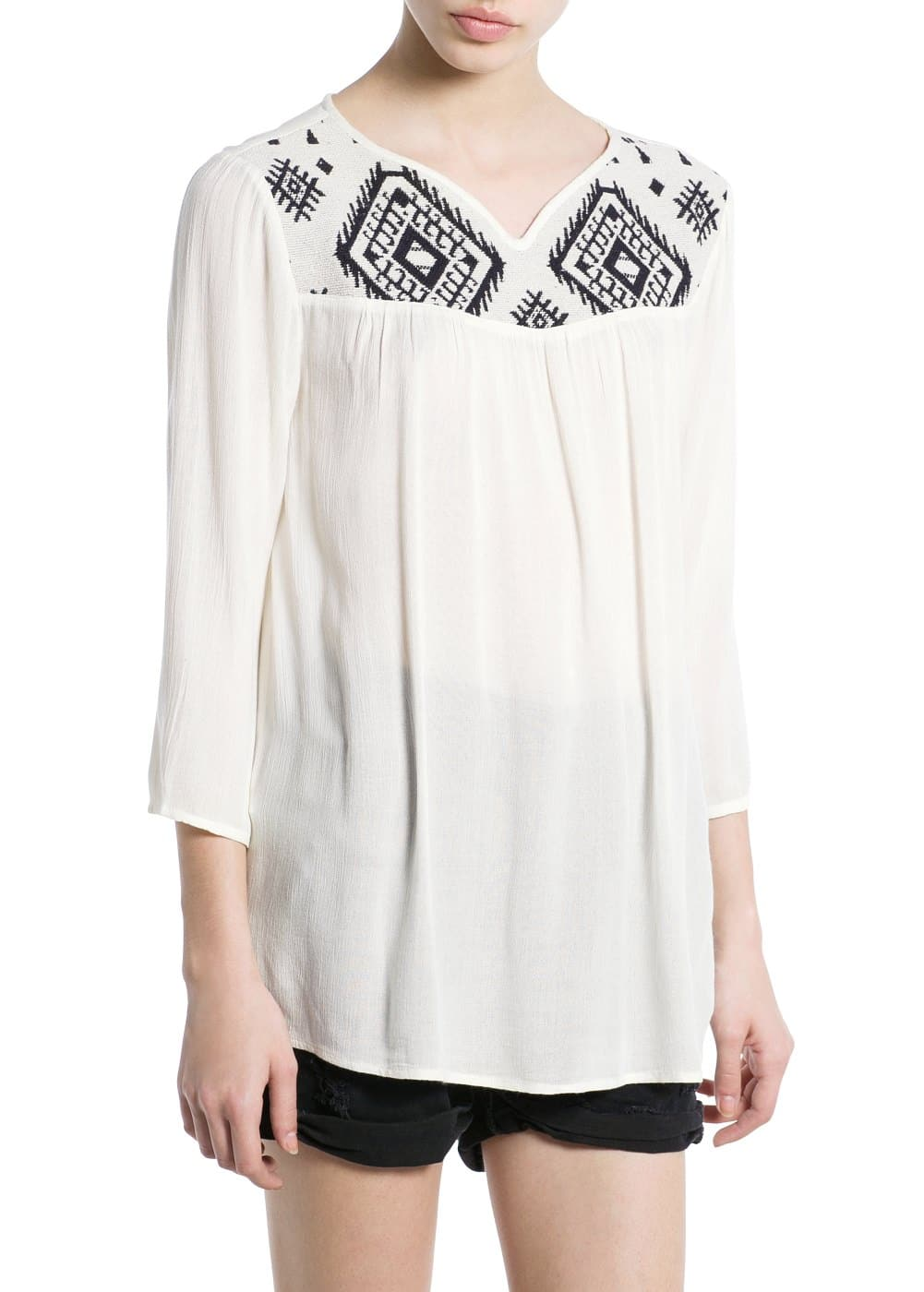 Ethnic embroidery blouse | MANGO