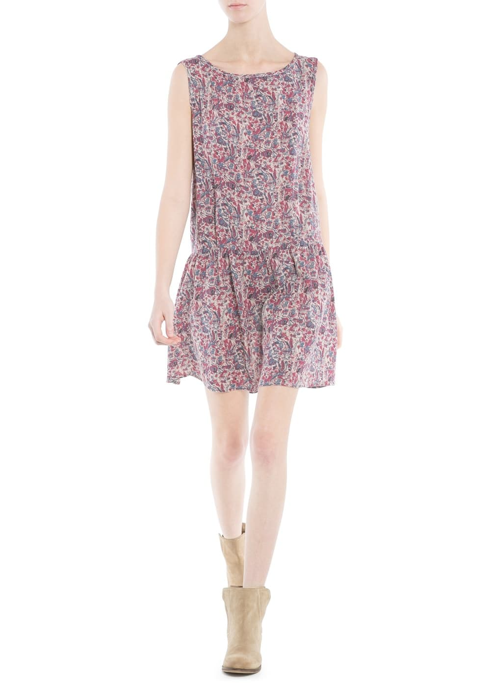 Printed lightweight dress | MANGO