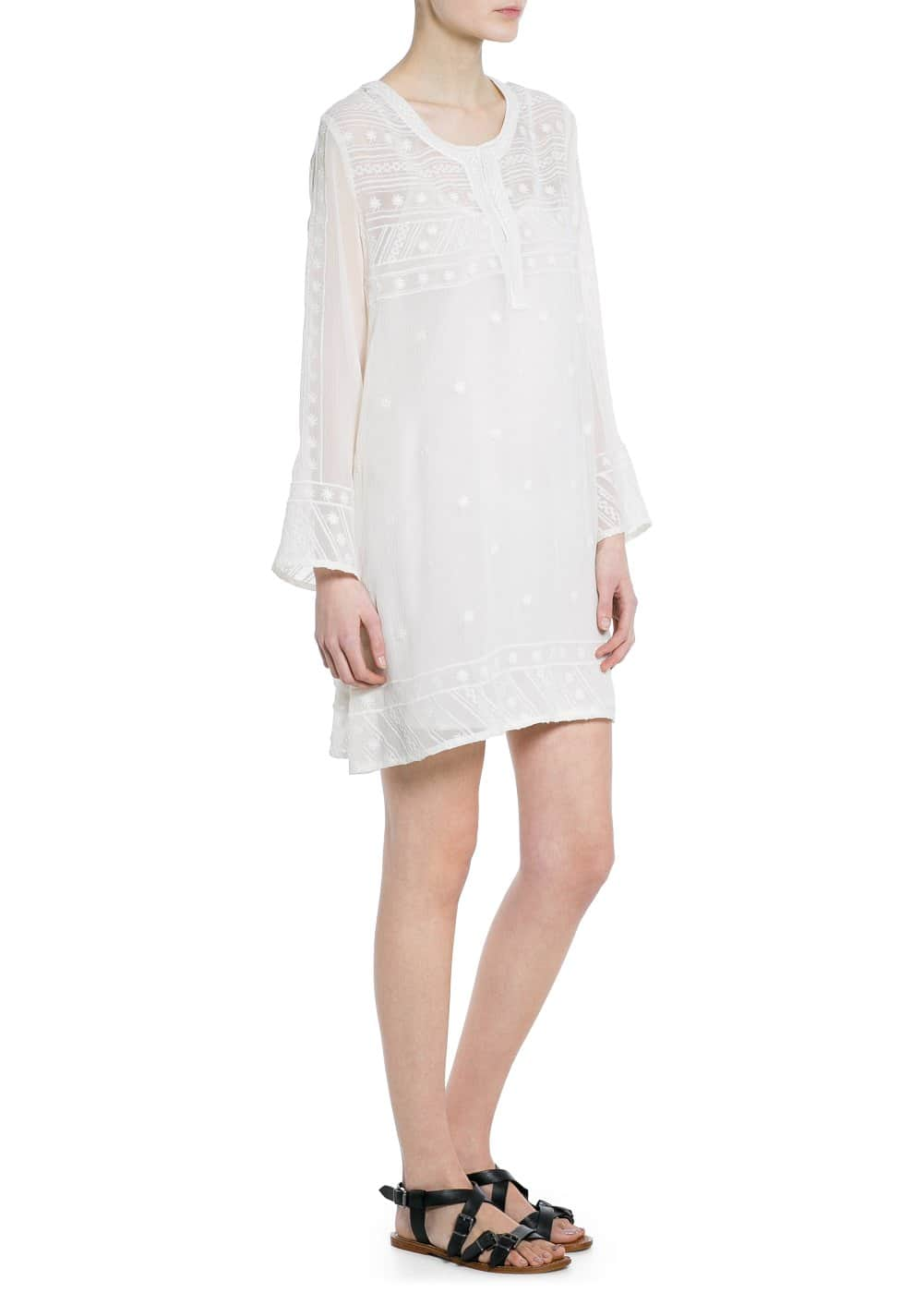 Embroidered chiffon dress | MANGO