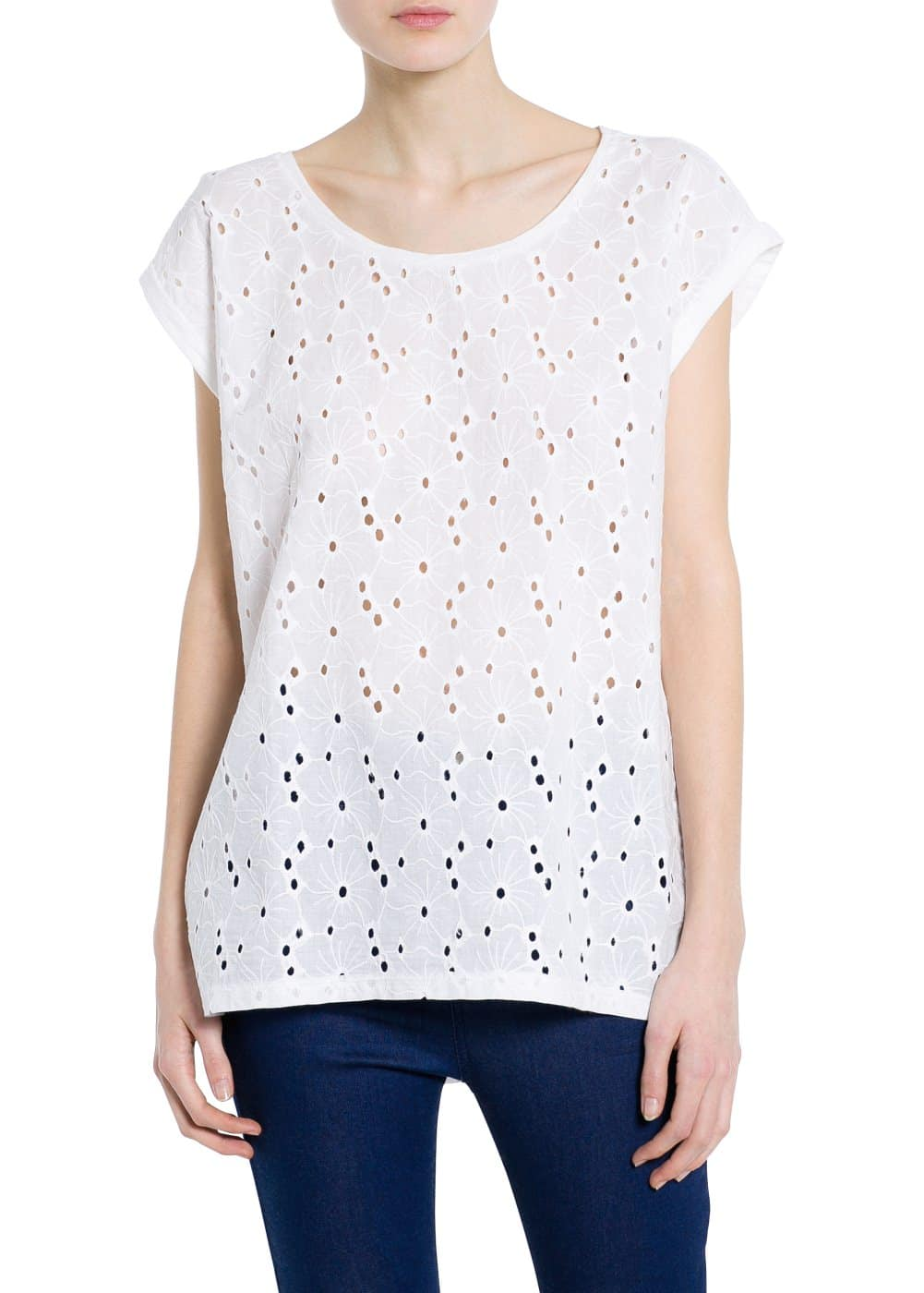 T-shirt bordada | MANGO
