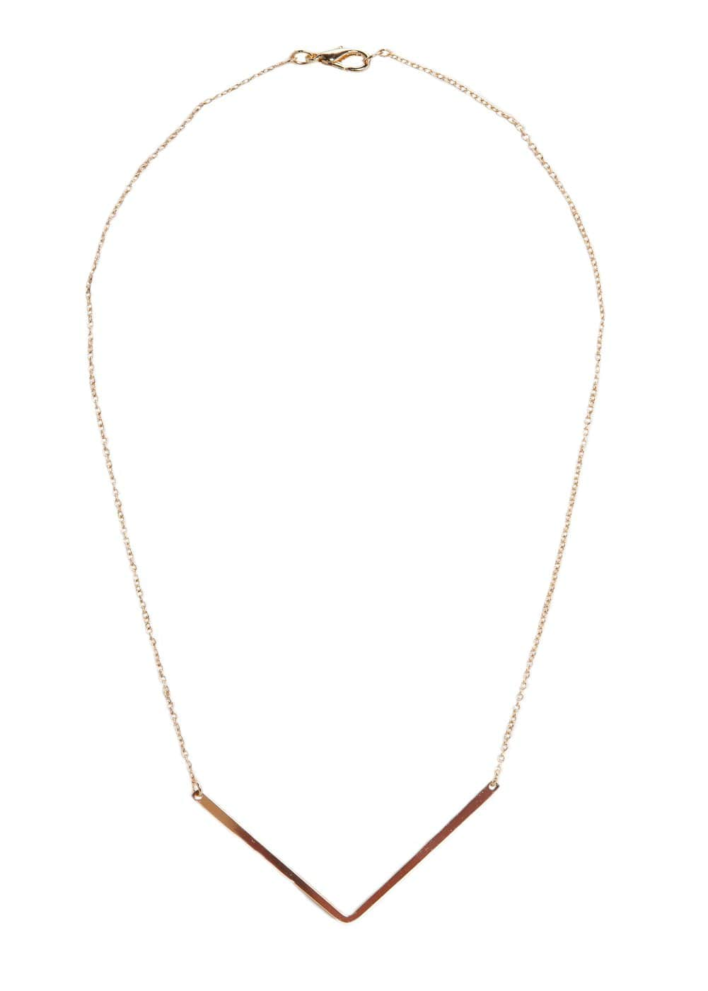 V pendant necklace | MANGO