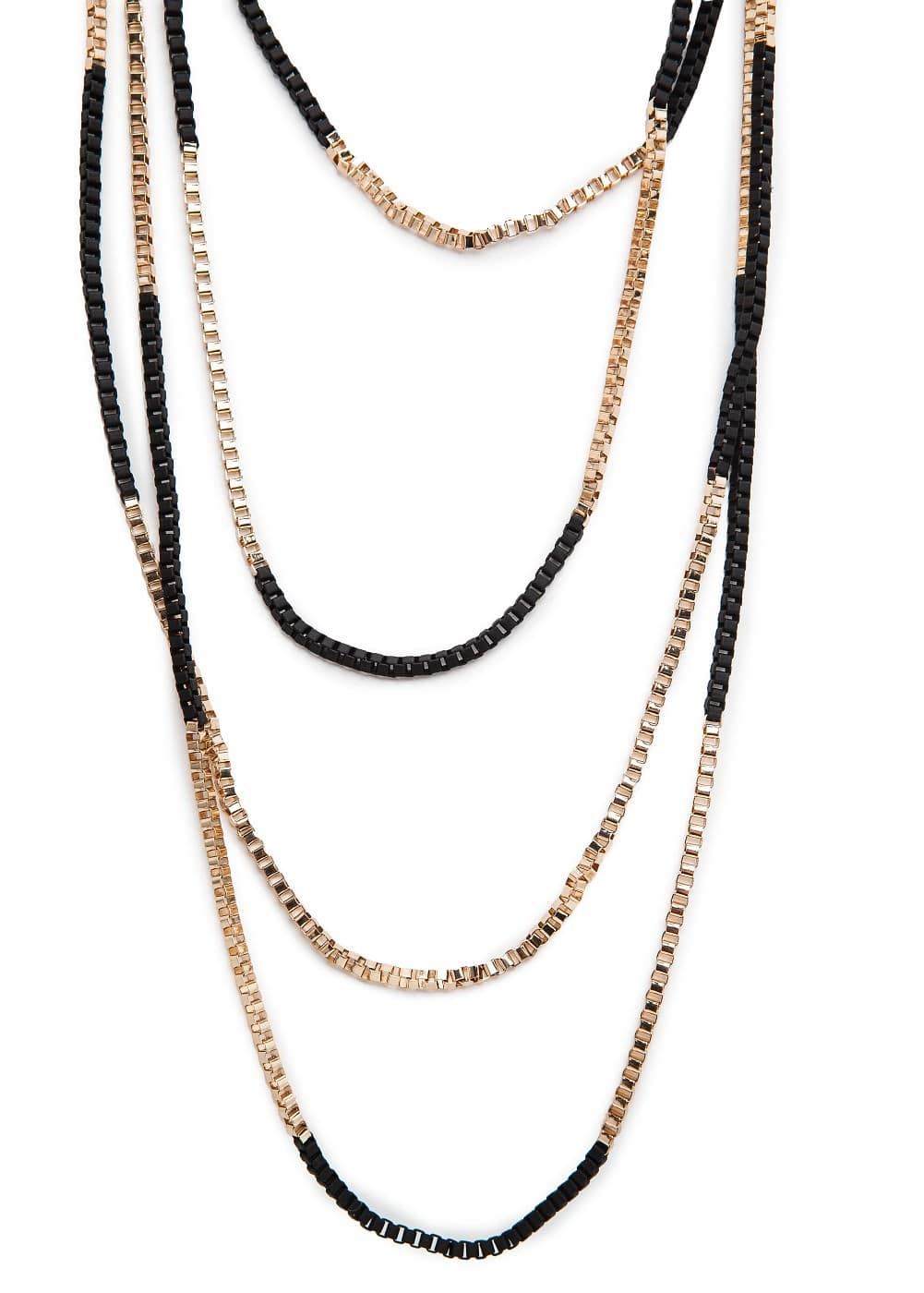 Bicolor multi chain necklace | MANGO