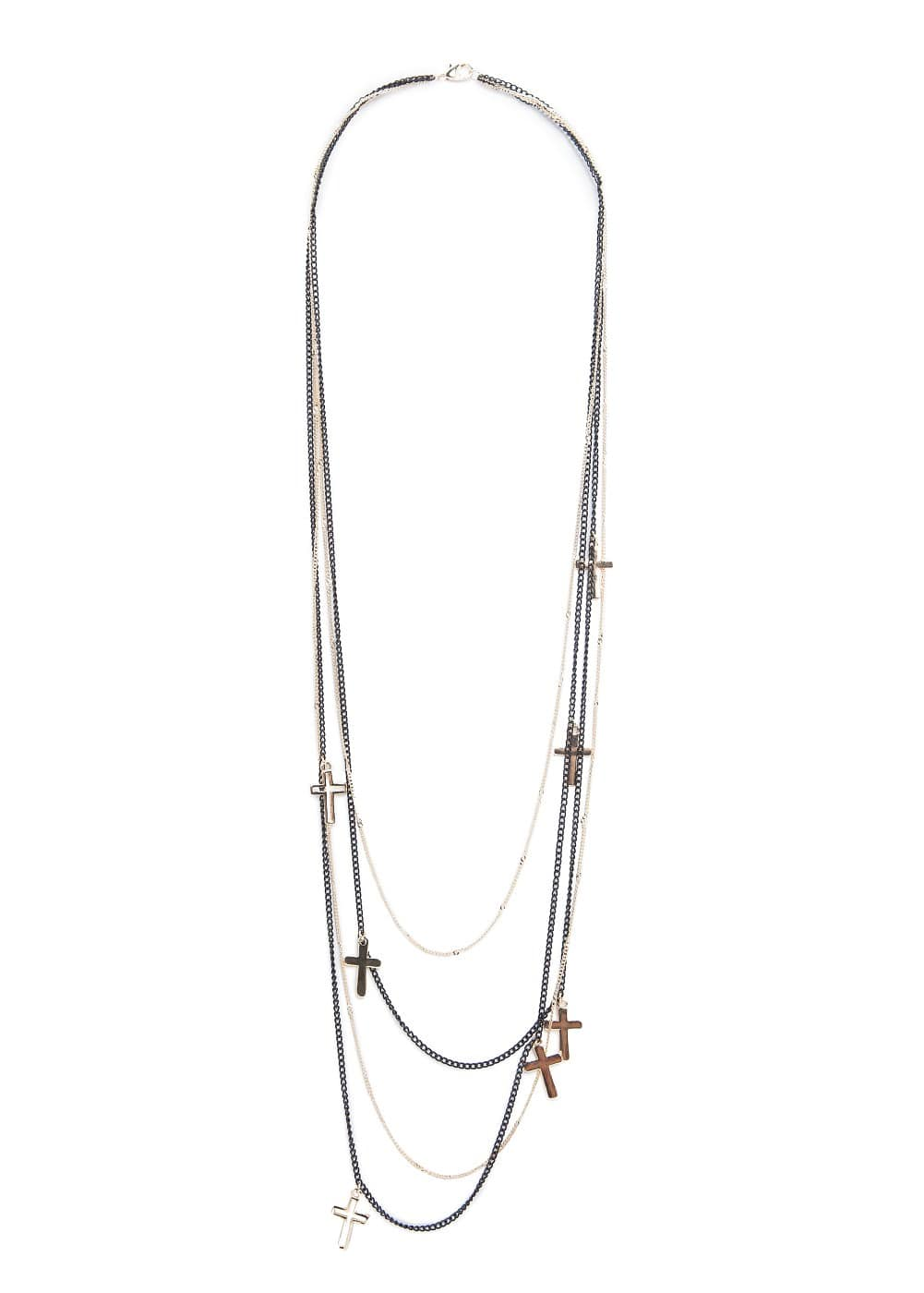 Cross multi chain necklace | MANGO