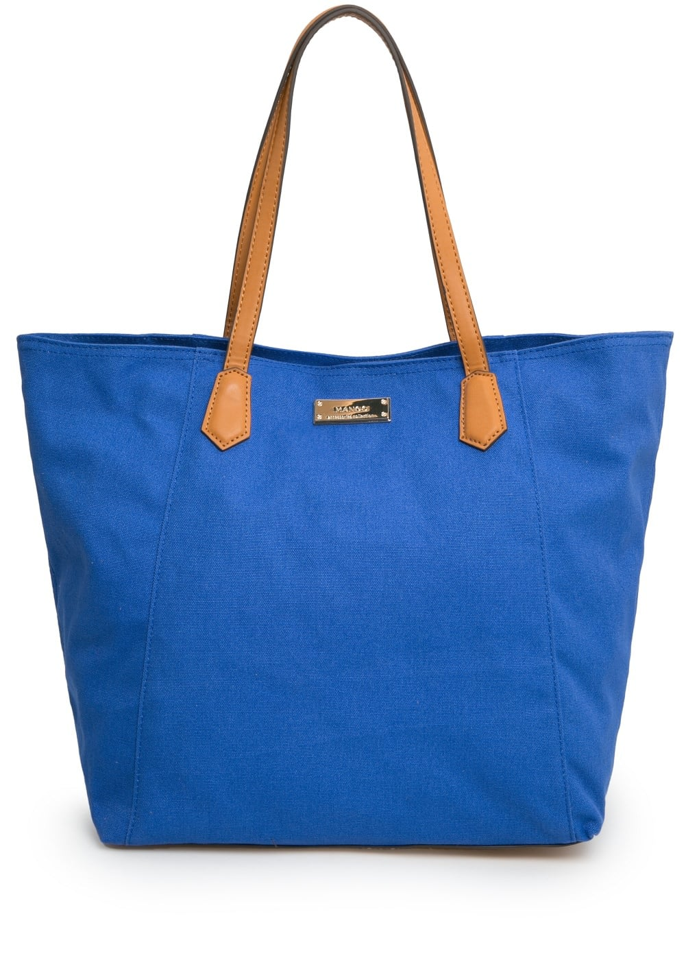 Canvas shopper bag | MANGO