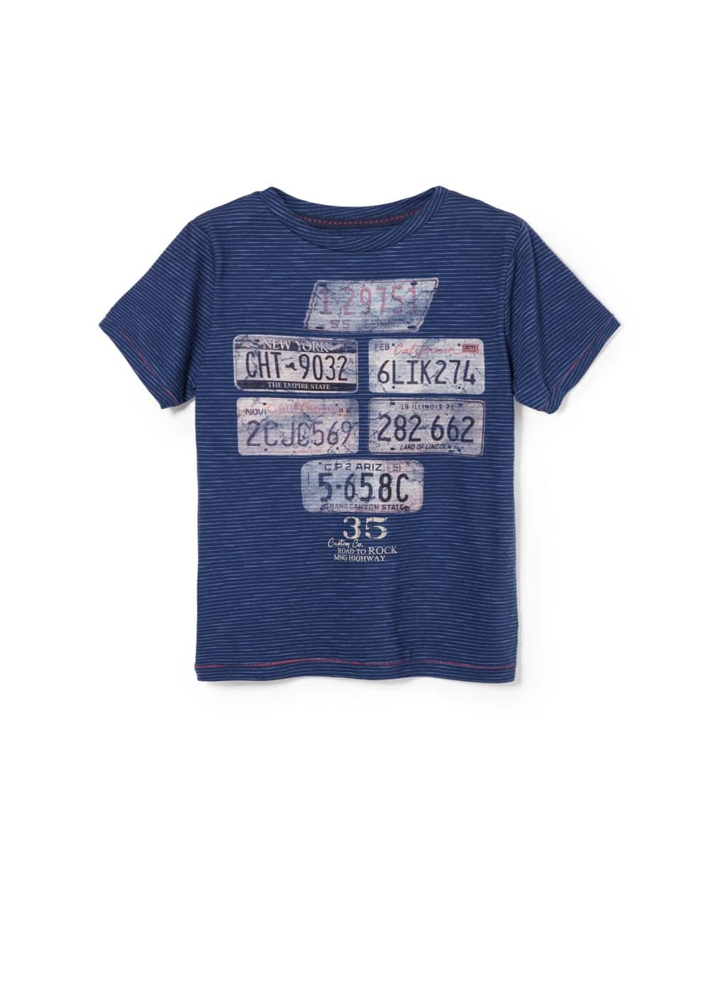 Number plate t-shirt | MANGO KIDS