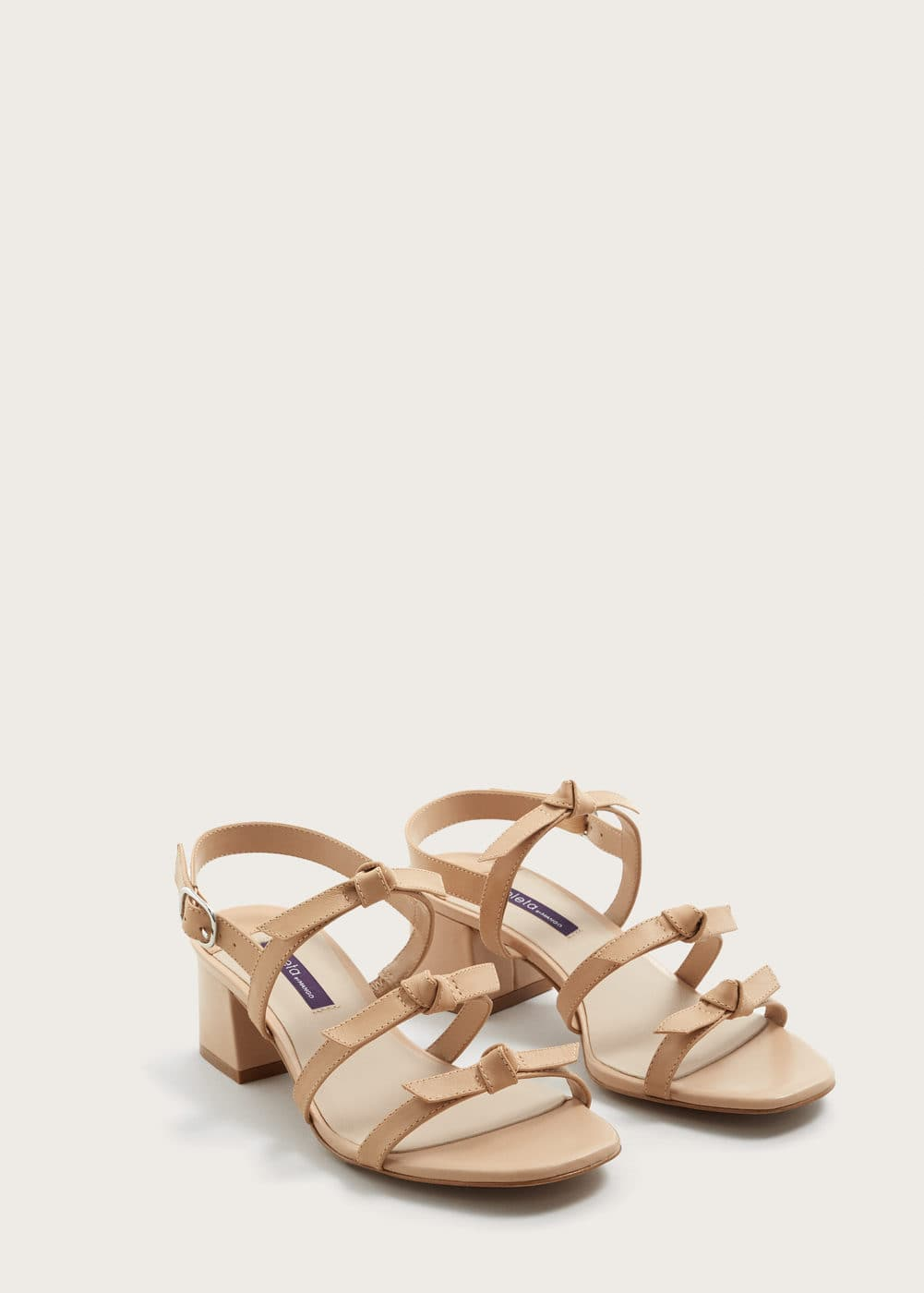 Bows leather sandals | VIOLETA BY MNG