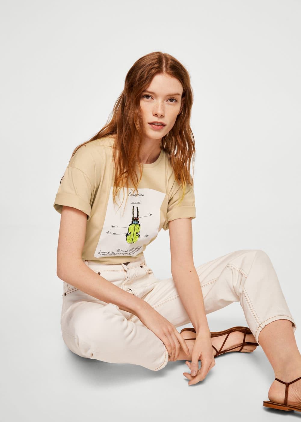 Appliqués printed t-shirt | MANGO