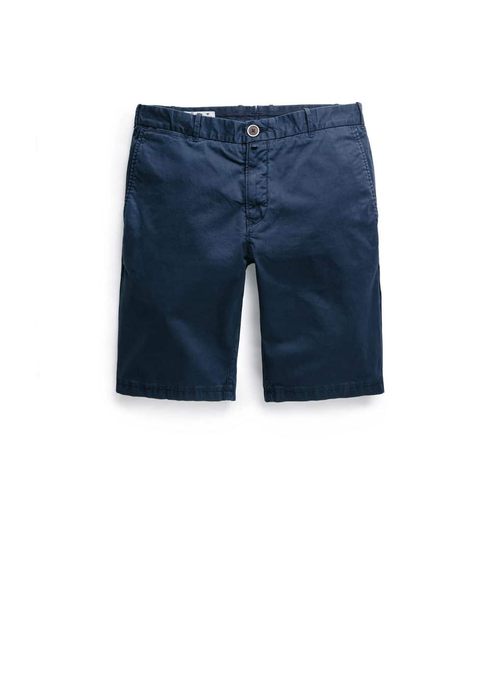 Washed cotton bermuda shorts | MANGO MAN
