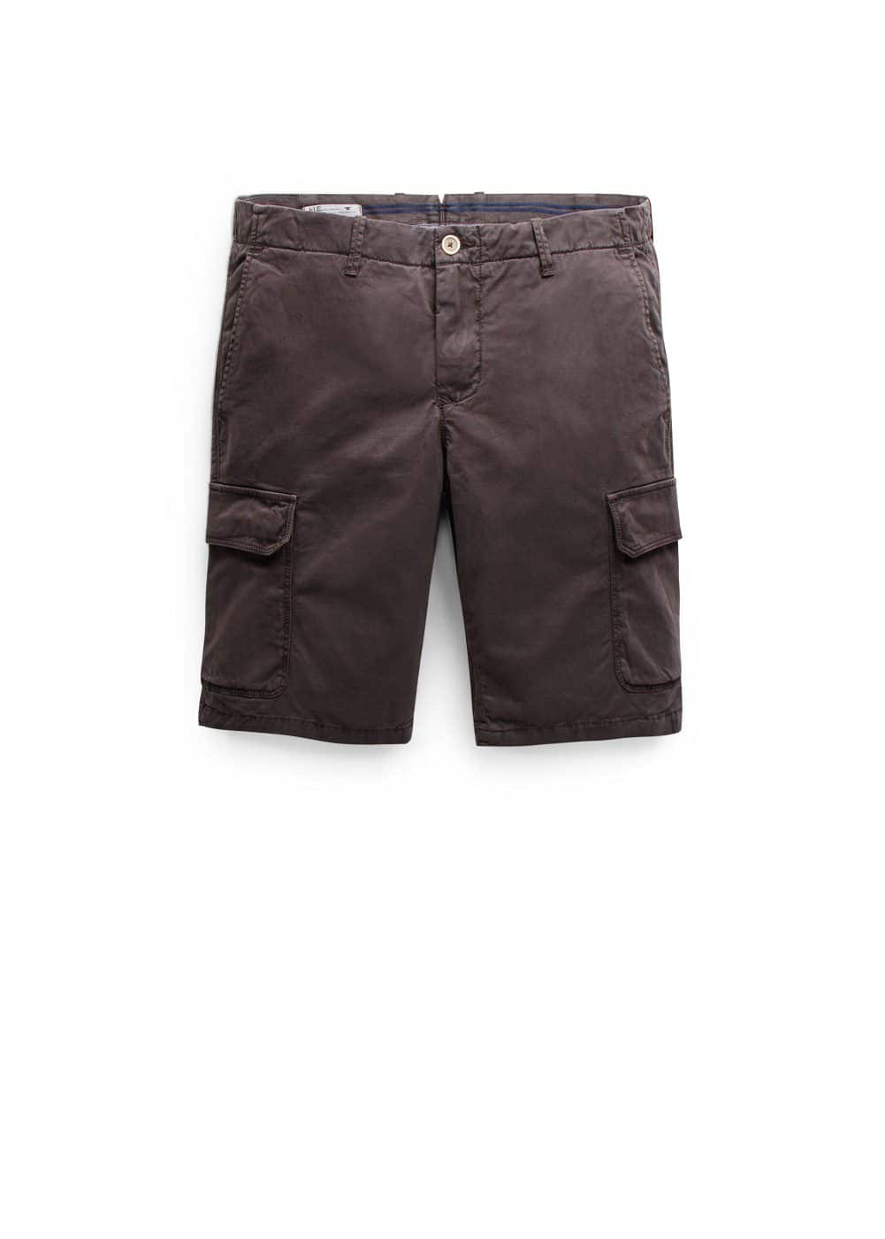 Cotton cargo bermuda shorts | MANGO MAN