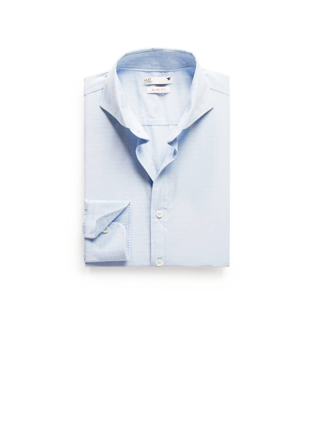 Slim-fit stripe textured shirt | MANGO