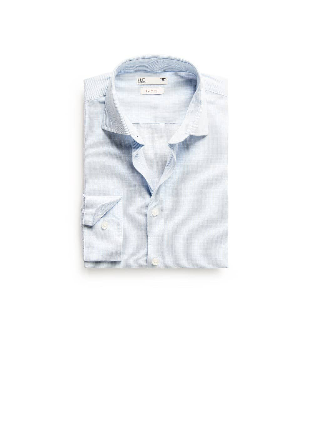Slim-fit micro stripe shirt | MANGO