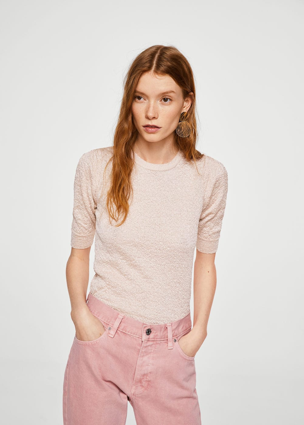 Textured sweater | MANGO