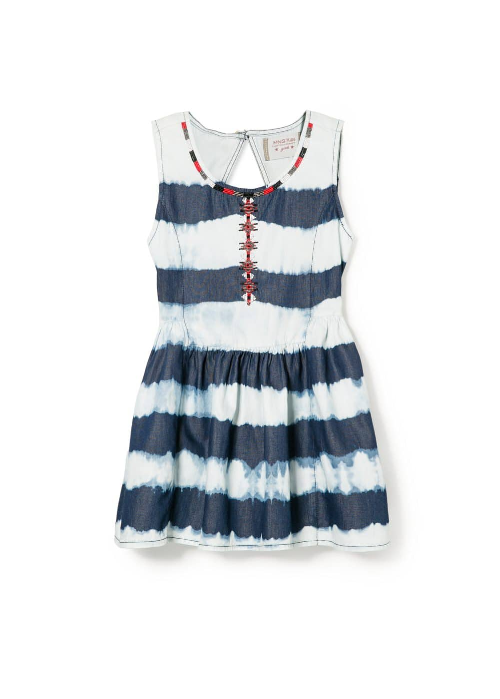 Bead striped dress | MANGO KIDS