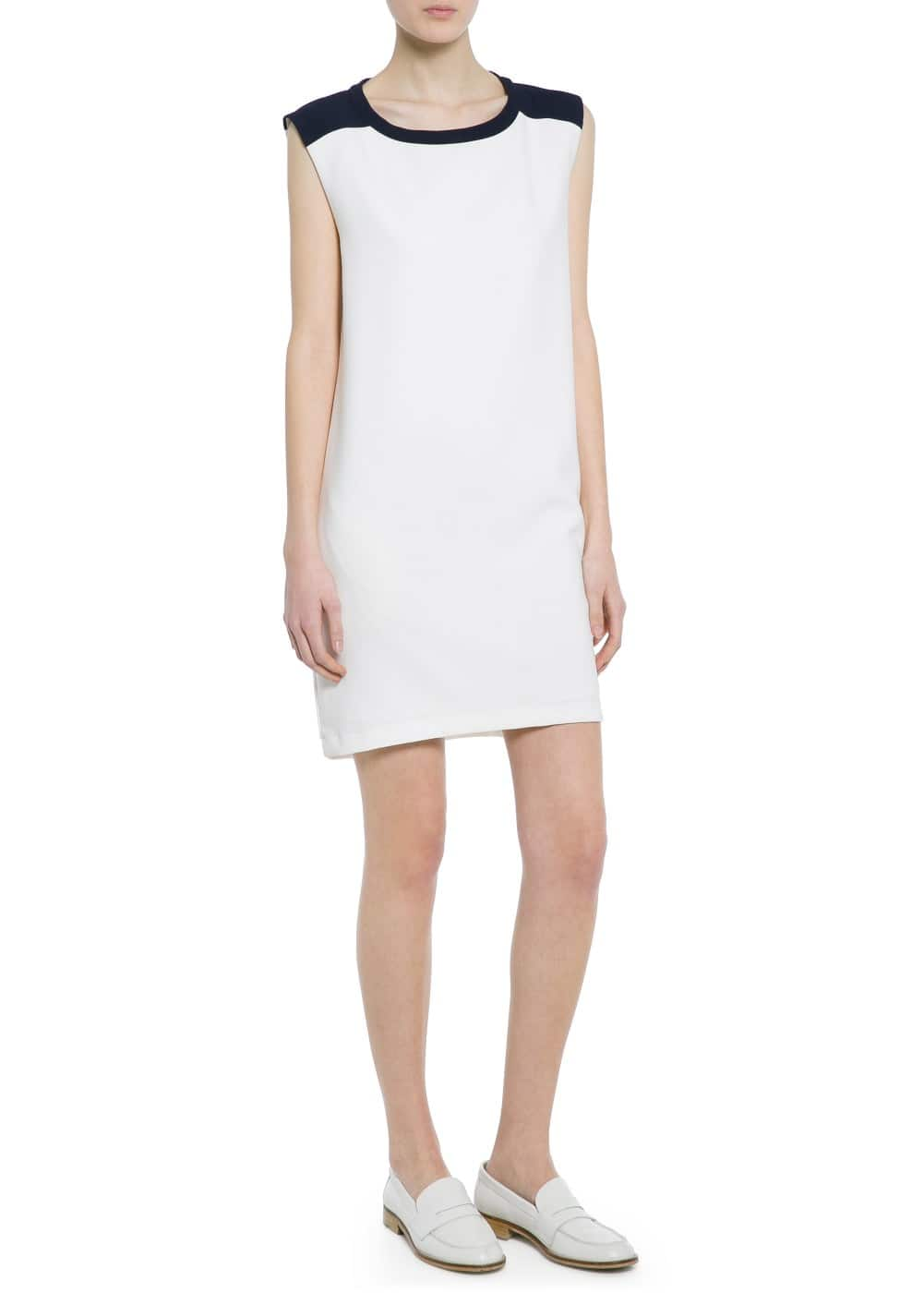 Monochrome stretch dress | MANGO
