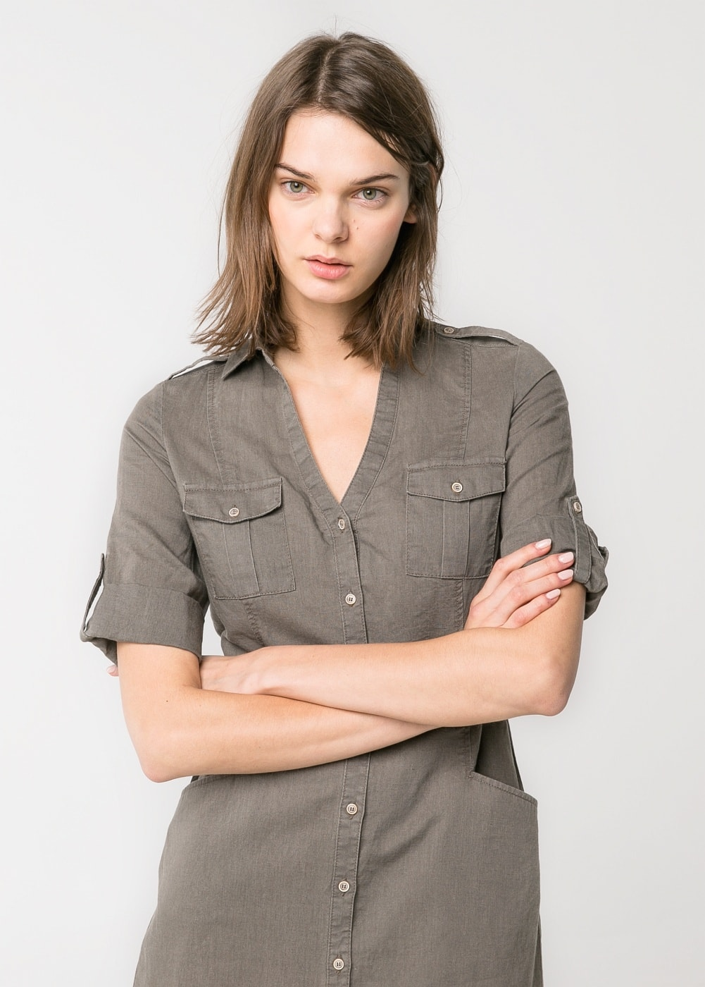 Shirt dress | MANGO