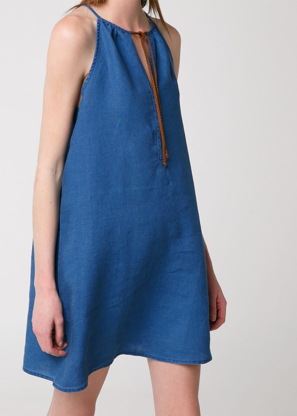 Linen chambray dress | MANGO
