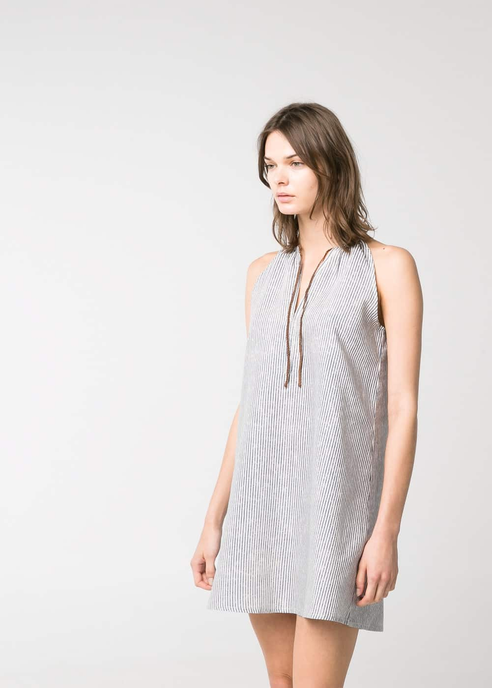 Cord halter dress | MANGO