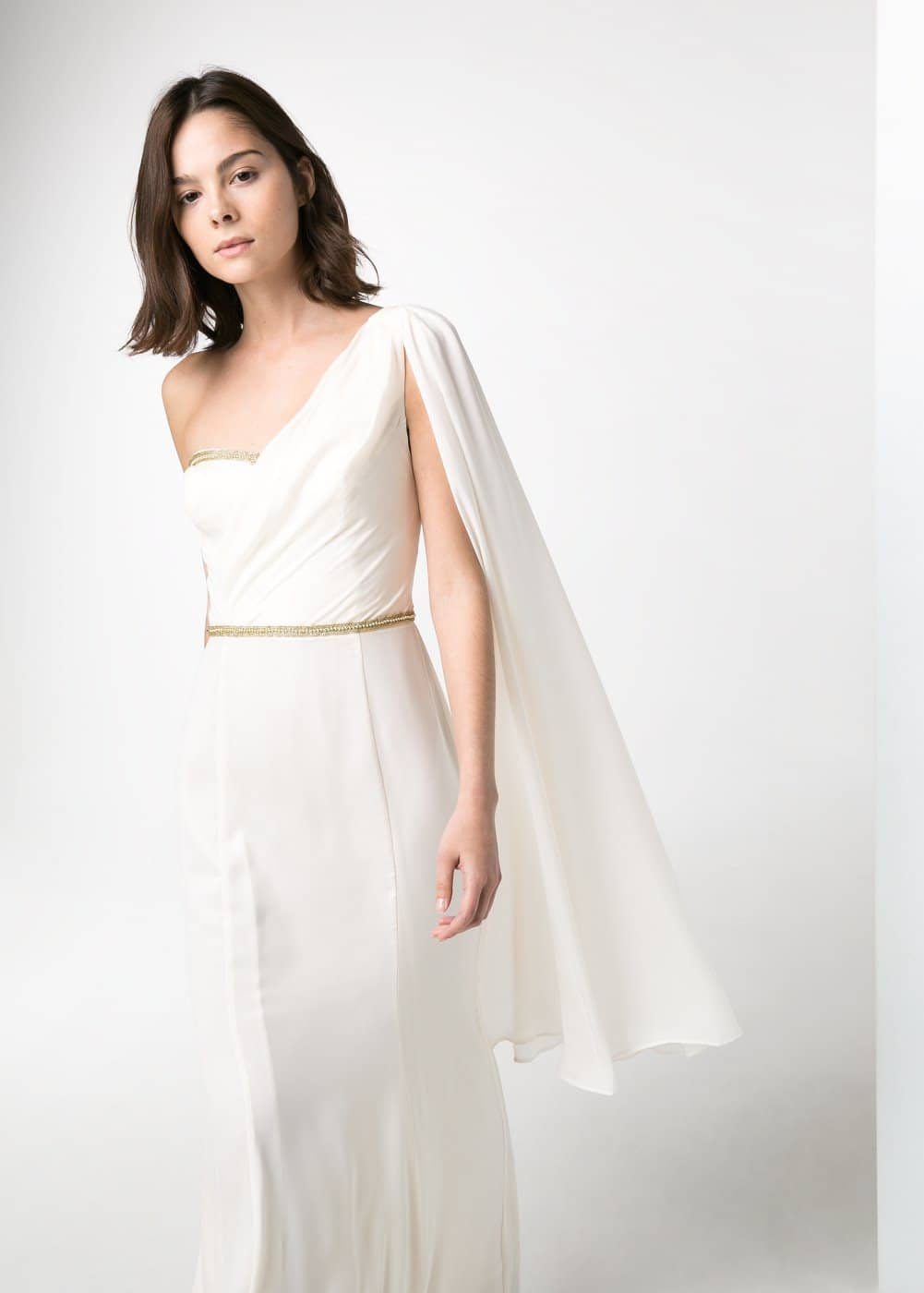 Cascading long dress | MANGO
