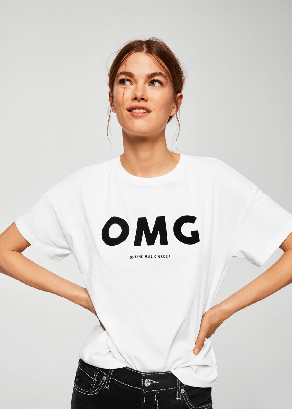 Mango T-shirt coton bio message