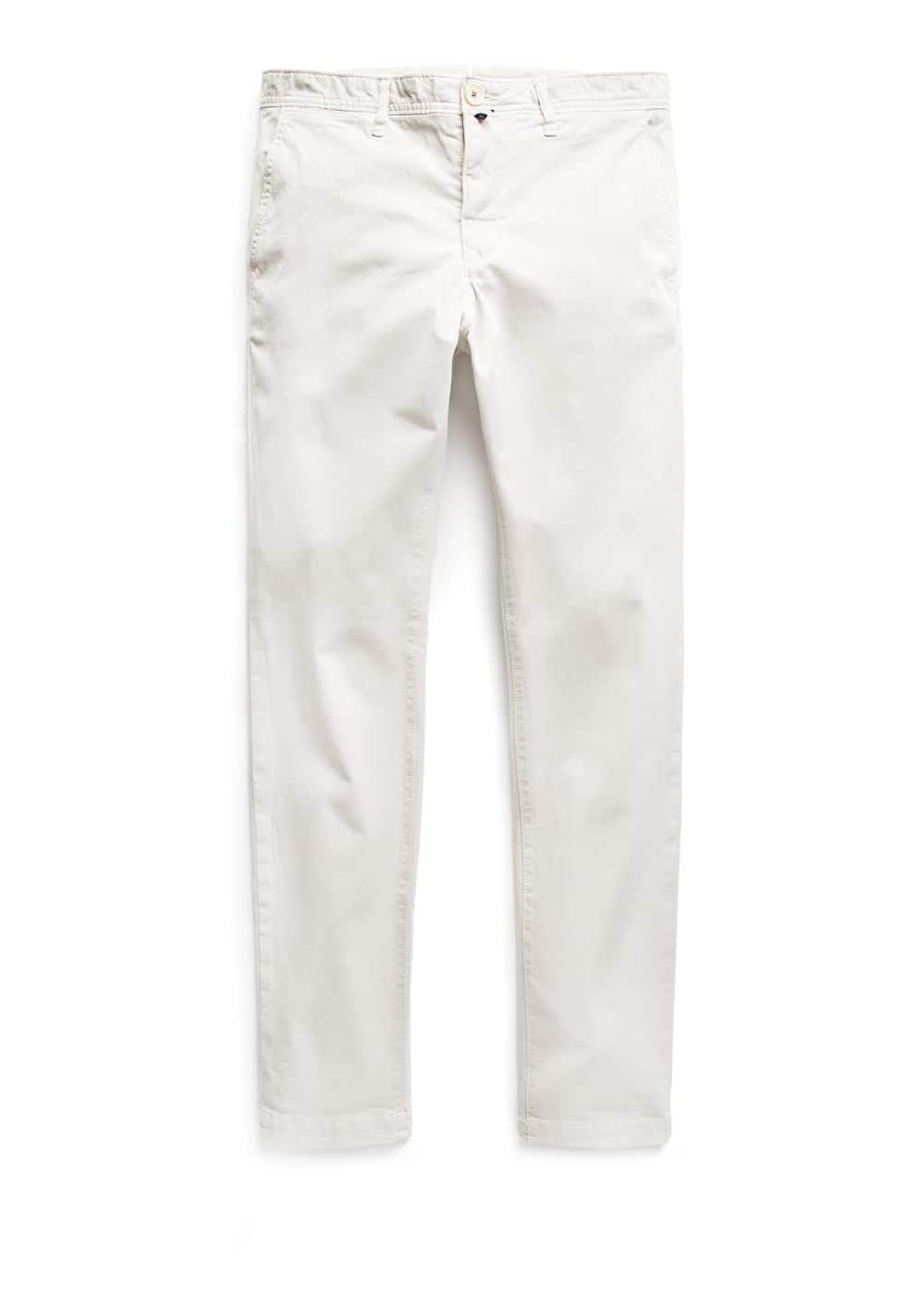 Slim-fit garment-dyed chinos | MANGO