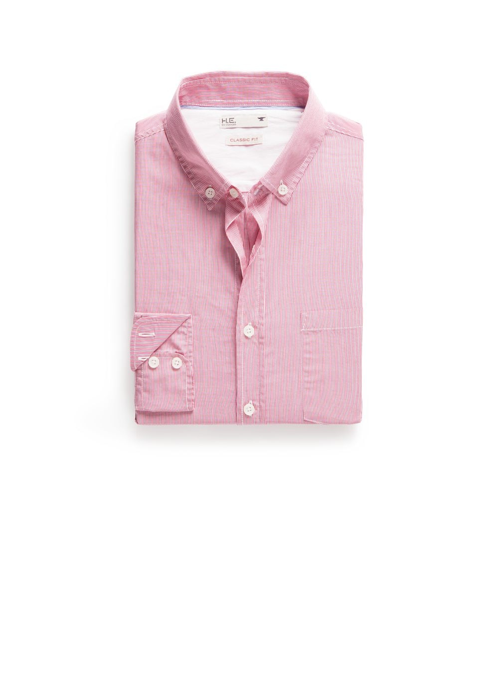 Classic-fit fine-stripe shirt | MANGO