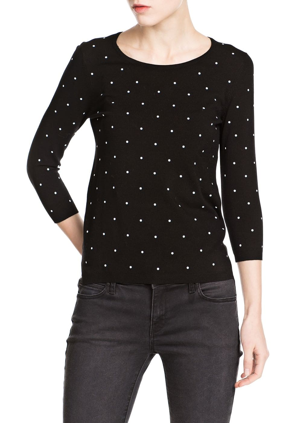 Polka-dot sweater | MANGO MAN