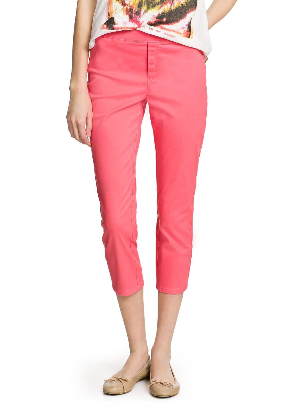Cotton capri jeggings | MANGO